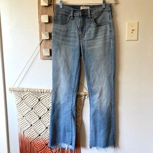 Madewell Light Wash Cali Demi Bootcut Jeans